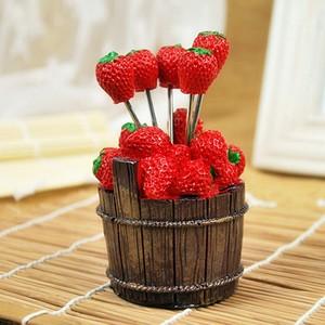 pratik meyve tasarımlı servis kürdan seti