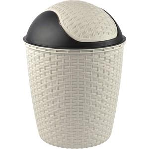 tuffex rattan roboklik çöp kovası no 4 - beyaz 14 lt