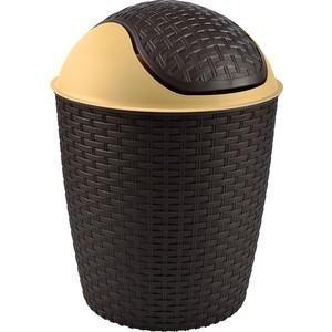 tuffex rattan roboklik çöp kovası no 4 - siyah 14 lt
