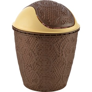 tuffex dantel robo klik çöp kovası no 2 - kahve 5,5 lt