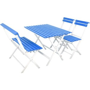 gadahome bahçe balkon masa sandalye takımı mavi