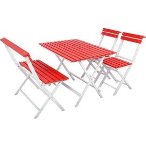 gadahome bahçe balkon masa sandalye takımı kırmızı
