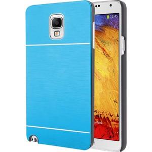 microsonic samsung galaxy note 3 neo kılıf hybrid metal - mavi