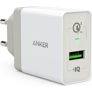Anker PowerPort 1 18W QuickCharge 3.0 Hızlı Şarj Seyahat Şarj Cihazı - Beyaz - A2013L21 - OFP