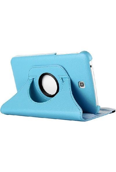 "Nokta Samsung Galaxy Tab A SM-T350 8"" 360° Dönebilen Stantlı Beyaz Kılıf"