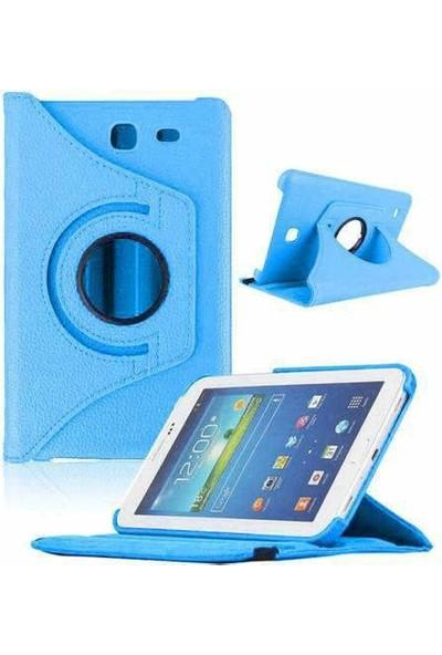 """Nokta Samsung Galaxy Note 10.1"""" P600 360° Dönebilen Stantlı Mavi Kılıf"""
