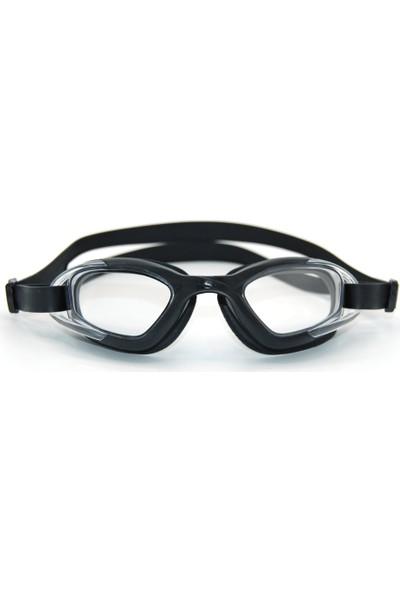 Delta GS3 Özel Dizayn Yetişkin Deluxe Yüzücü Gözlüğü Siyah