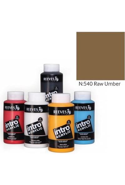 Reeves İntro Akrilik Boya 500Ml - Raw Umber