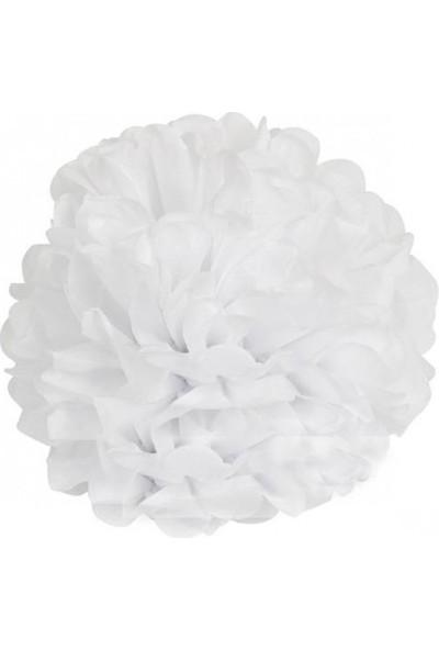 Bebekparti Ponpon Çiçek Beyaz