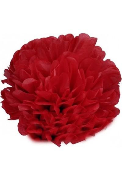 Bebekparti Ponpon Çiçek Kırmızı