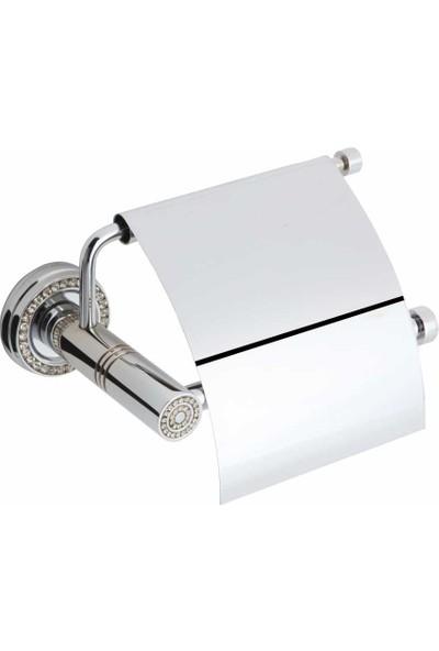 Bauboss Altima Krom Taşlı Tuvalet Kağıtlığı Pirinç