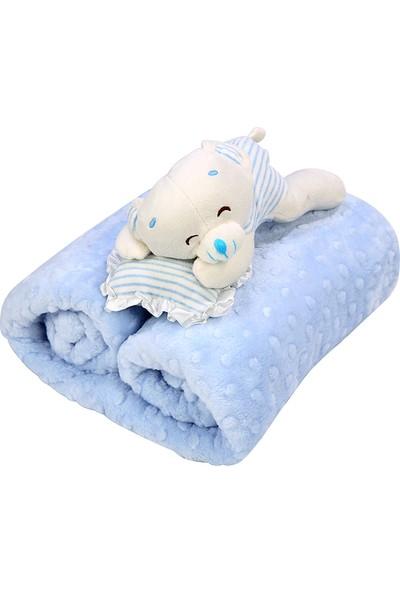 Özdilek Tomurcuk Bebek Battaniyesi Mavi