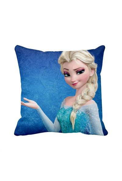 Asr Frozen Karlar Ülkesi Prenses Elsa Saten Yastık