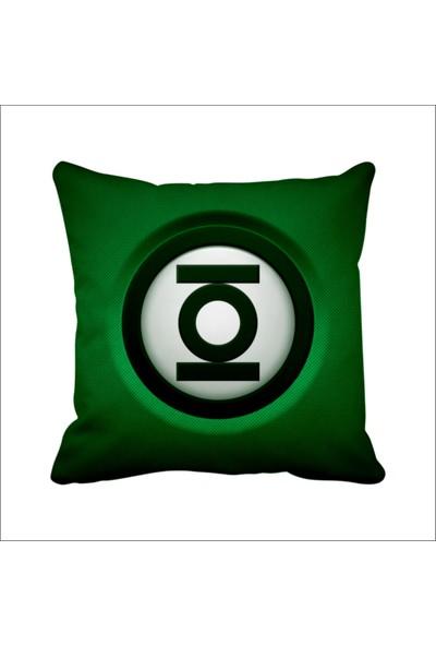 Asr Green Lattern Yeşil Fener 3D Justice League Saten Yastık