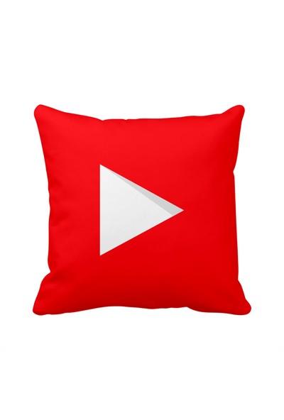 Youtube Play Sosyal Medya Saten Yastık