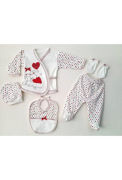 Webombinoo 5 Parça Kız Ve Erkek Bebek Hastane Çıkışı Yenidoğan Zıbın Seti