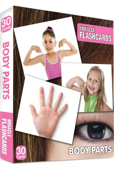 Miracle Flashcards: Body Parts Box 30 Cards