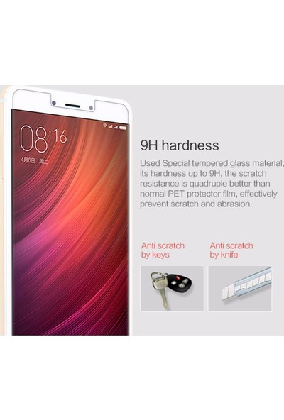 Microsonic Xiaomi Redmi Note 4 Temperli Cam Ekran koruyucu film