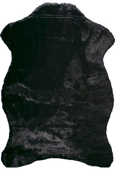 Doğuş Peluş Halı Siyah Post Halı 75x100 cm