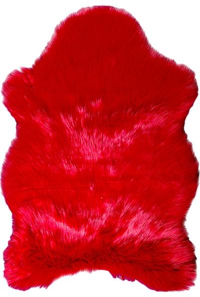 Doğuş Peluş Halı Kırmızı Post Halı 100x150 cm