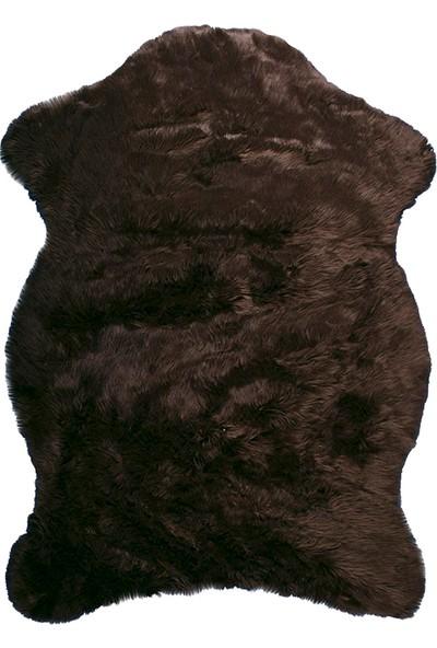Doğuş Peluş Halı Kahverengi Post Halı 75x100 cm