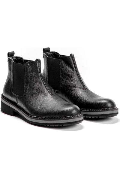 Silvio Massimo Hakiki Deri Erkek Ayakkabı Bot