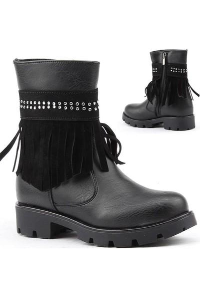 Polact 26019 Kız Çocuk Kışlık Bot Ayakkabı İçi Termal Astarlı