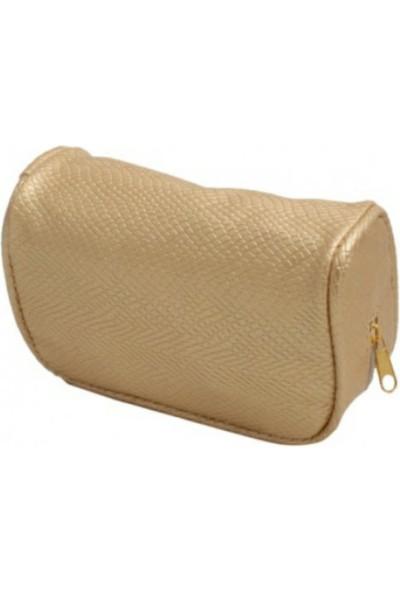 Bag Makyaj Çantası Mini Stil Sarı/Siyah/Gümüş