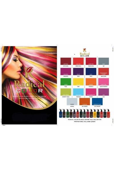 Radical Color Su Bazlı Saç Boyası Koyu Kızıl 250Ml