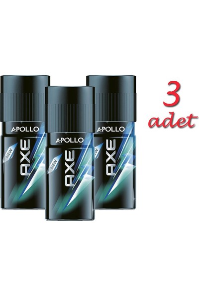 Axe Deo Apollo 150Ml - 3 Adet