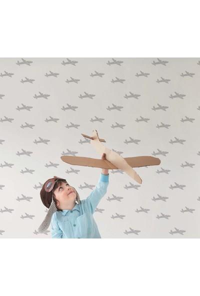 İthal Uçaklı Çocuk Odası Duvar Kağıdı