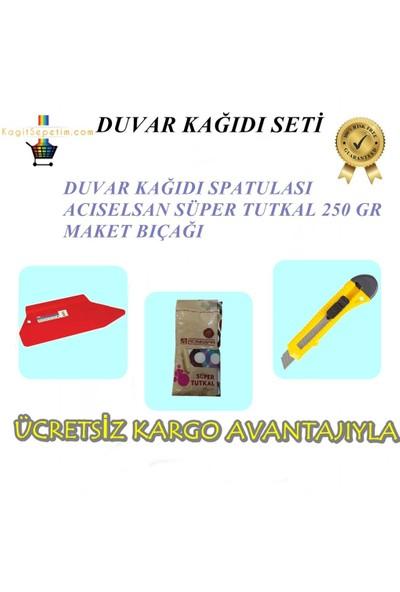 İthal Kaliteli Duvar Kağıdı Seti Spatula&Tutkal&Maket Bıçağı