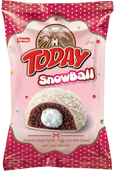 Today Snowball Hindistan Cevizli Kek 50 Gr 24 Adet (1 Kutu)