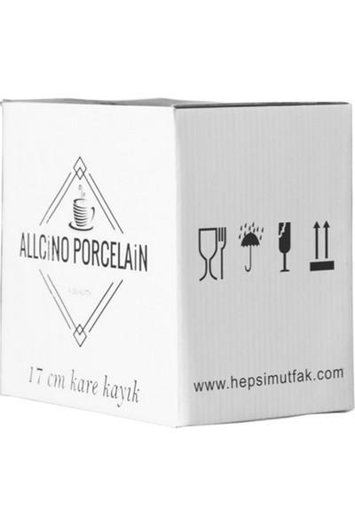Allcino 17 Cm Kare Kayık Tabak-12 Adet*