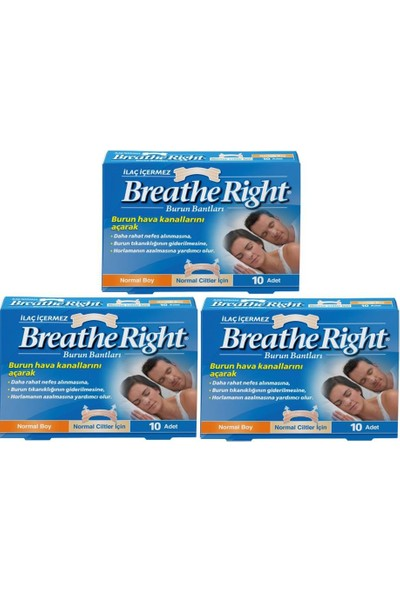 Breathe Right Normal Boy 3'lü Paket