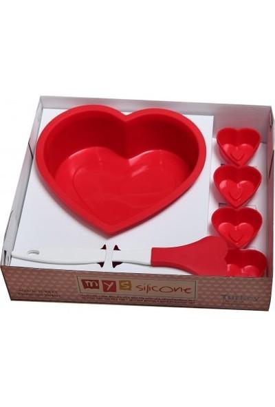Myssilicone Kalpli Silikon Kek Kalıbı Seti