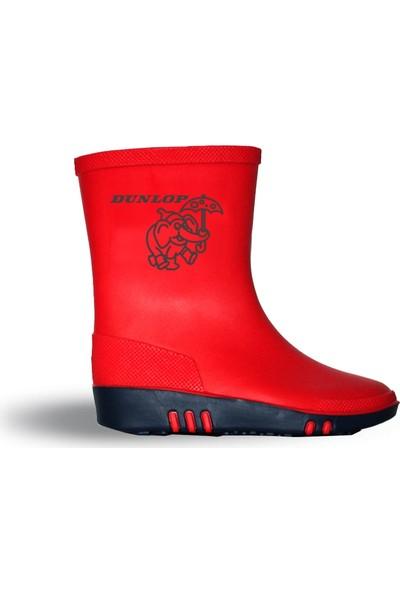 Dunlop Çocuk Yağmur Çizmesi Kırmızı