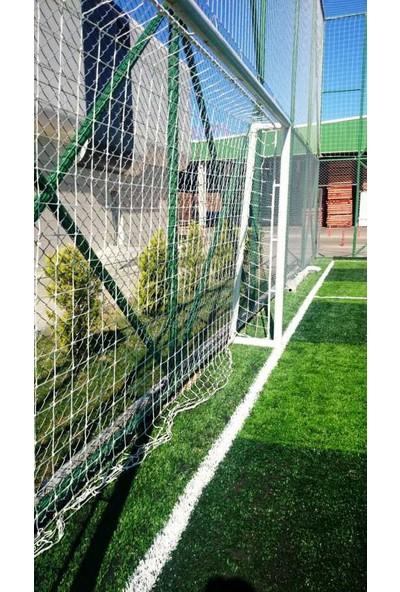Futbol Kale Filesi 4 mm Kord İpi 5,50*2,20*0,8 m , 12,5*12,5 Göz Genişliği Beyaz