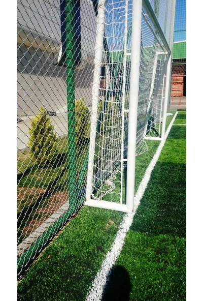 Futbol Kale Filesi 4 mm Kord İpi 5,00*2,20*0,8 m , 12,5*12,5 Göz Genişliği Beyaz