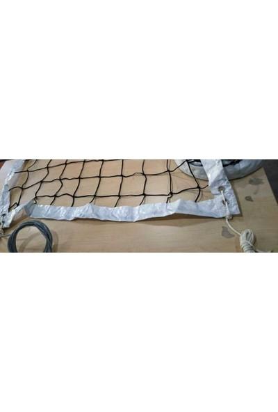 Adelinspor Diomond Voleybol Filesi (Ağı) 9,5m, İthal Brandalı,4 mm Çelik Halatlı 2,5 mm Kord İpi El Örgüsü