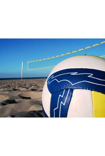 Adelinspor Diomond Plaj Voleybolu Filesi 8,5m ,İthal Brandalı,4 mm Çelik Halatlı 2,5 mm İp El Örgüsü
