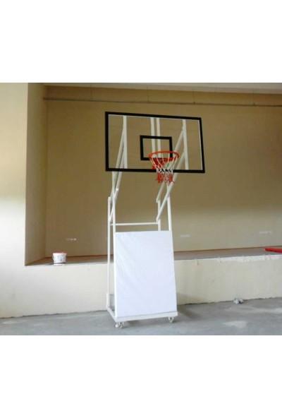 Diomond Seyyar 4 Direk Basketbol Potası 10 mm 105*180 Akrilik Cam Panya 45 Cm Sabit Çember