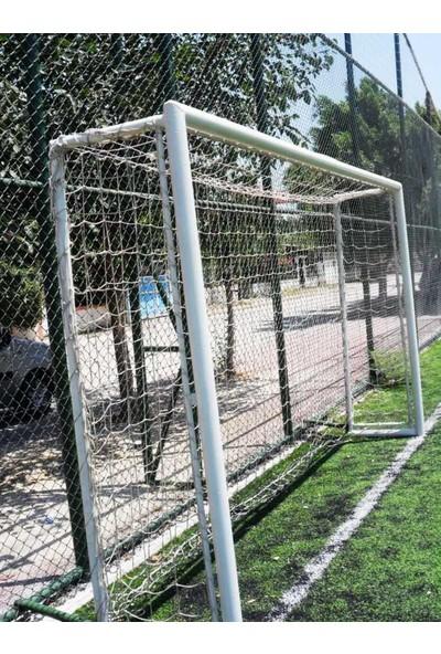 Futbol Kale Filesi 4 mm Kord İpi 4,00*2,20*0,8 m , 12,5*12,5 Göz Genişliği Beyaz