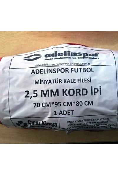 adelinspor Minyatür Kale Filesi 75/90/60Cm 10*10 Göz 2,5 Mm Renkli İp