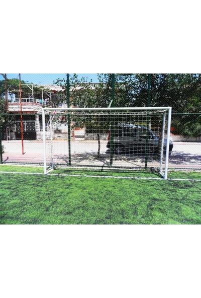 Futbol Kale Filesi 4 mm Kord İpi 3,20*2,20*0,8 m , 12,5*12,5 Göz Genişliği Beyaz