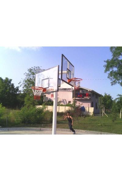 Basketbol Potası Üçlü Grup Kademeli Yüks 10 mm Cam, 105*180 Akrilik Cam Panya 45 cm Sabit Çember