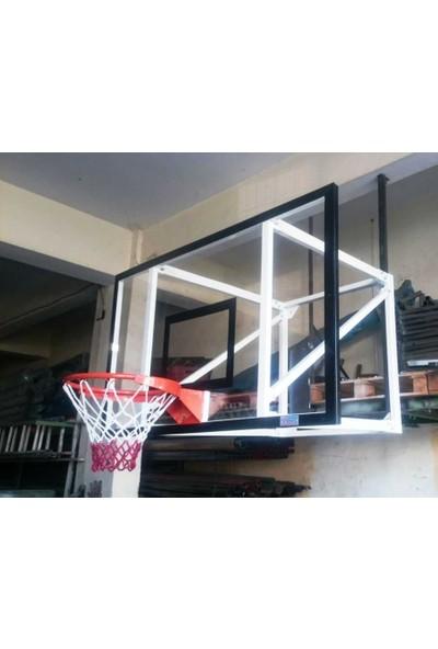 Duvara Monte Pota 4 lü Çerçeve 12 MM 105*180 Cam , Akrilik Cam , Basketbol Potası 45 Cm Sabit Çem.