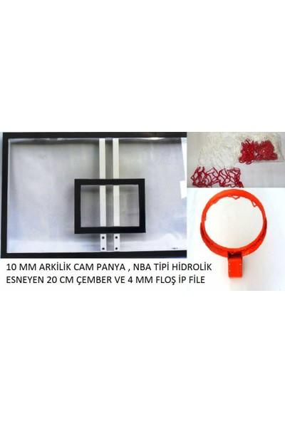 Panya Seti 105*180 12 mm Akrilik Cam 45 cm Hidrolik Çember 4 mm Floş İp File