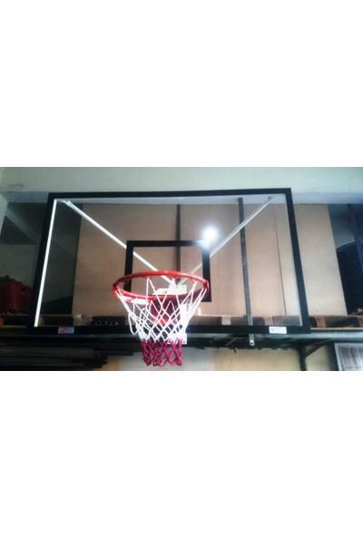 Duvara Monte Pota Tek Noktadan Bağ. 10 MM 105*180, Akrilik Cam , Basketbol Potası 45 Cm Sabit Çem.