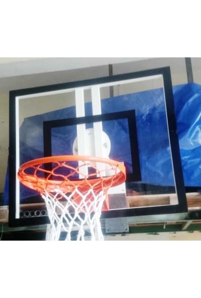 Duvara Monte Pota Tek Noktadan Bağ. 10 MM 90*120, Akrilik Cam , Basketbol Potası 45 Cm Sabit Çem.